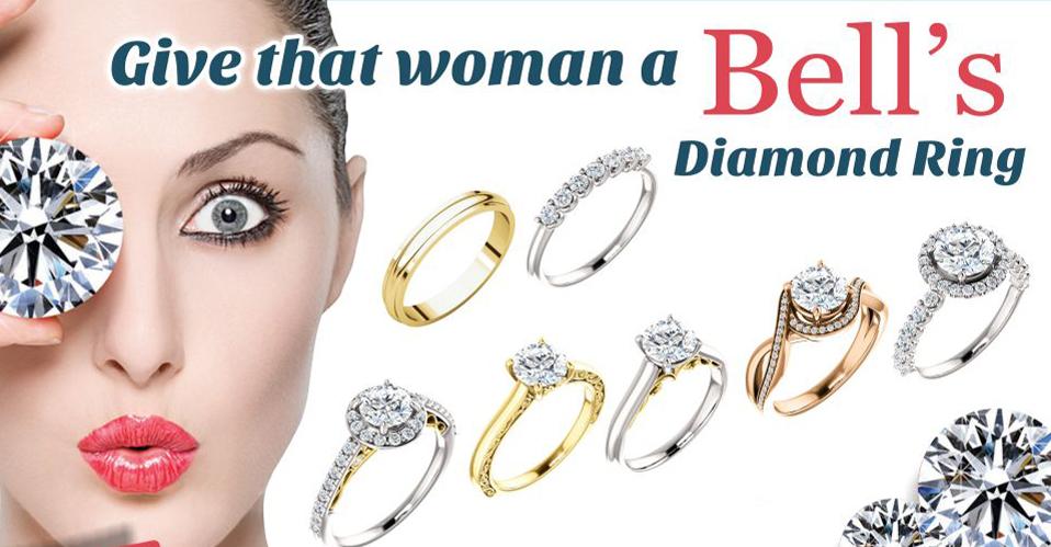 Bells diamond ring